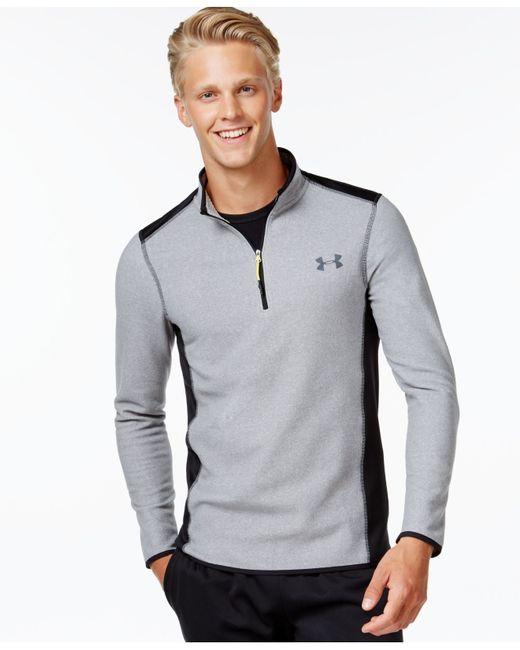 Under Armour | Gray Men's Coldgear­ Infrared 1/4 Zip Fleece for Men | Lyst