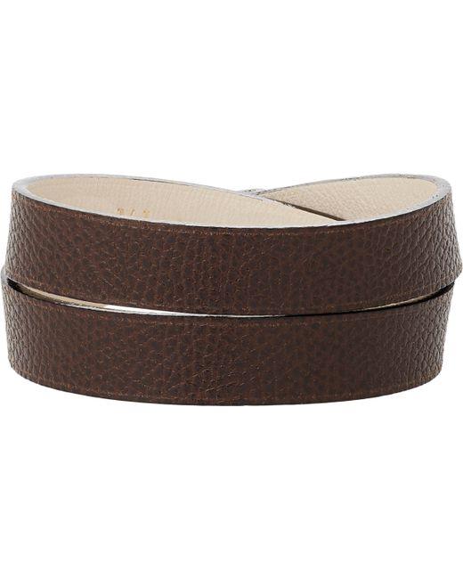 Valextra | Brown Leather Wrap Bracelet for Men | Lyst
