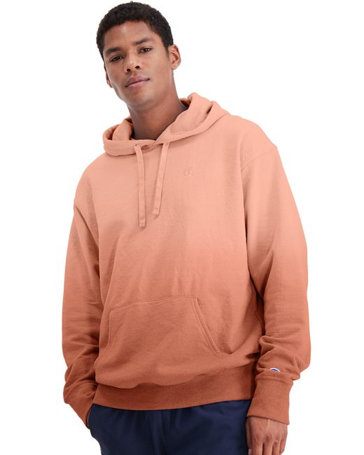 Champion Athletics Powerblend Fleece Ombre Hoodie Ginger Red for men