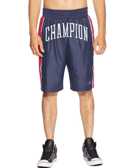f8ec2873fc7d Lyst - Champion Life® Satin Shorts in Blue for Men - Save 51%