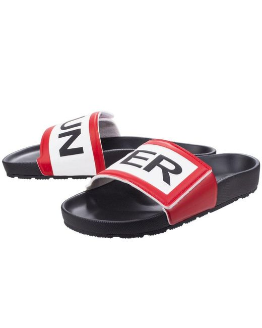 9c7c994b9439 ... Hunter - Black Original Logo Mens Slide Sandals for Men - Lyst ...