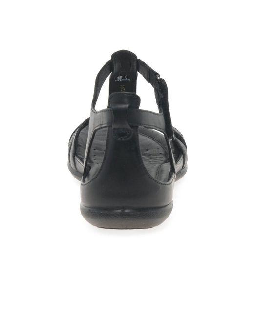 5c9980a1 Black Flash Ii Womens Leather Sandals