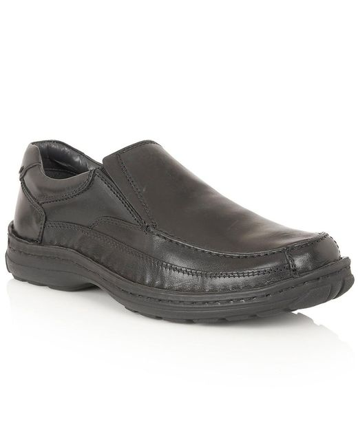 Lotus | Black Slip On Casual Loafers for Men | Lyst
