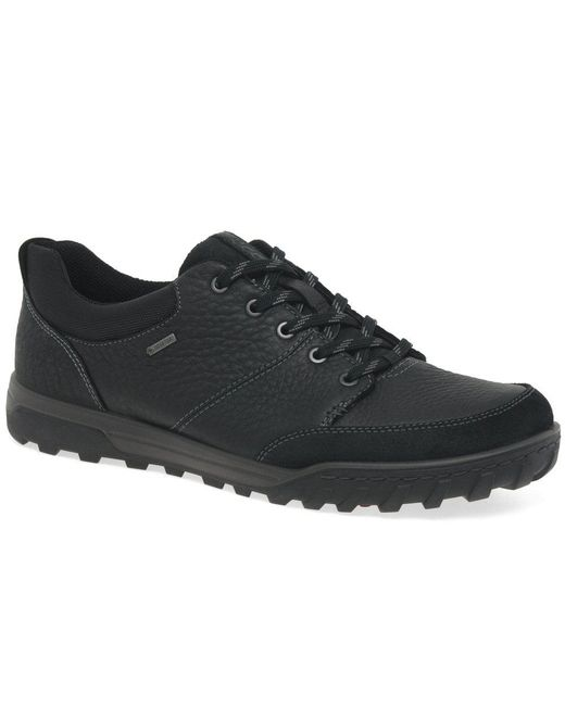 Black Urban Lifestyle Mens Lightweight Waterproof Lace Up Shoes
