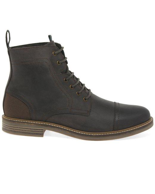 fc6c4f744b0 Black Dalton Mens Leather Lace Up Military Boots