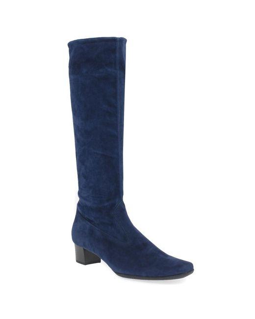 Peter Kaiser - Blue Aila Womens Long Suede Boots - Lyst