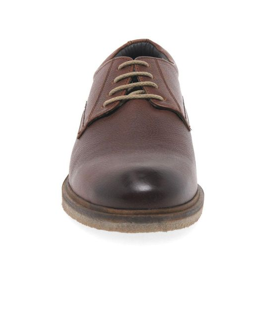 e4a20f969b1 Brown Stanley 04 Mens Leather Lace Up Derby Shoes