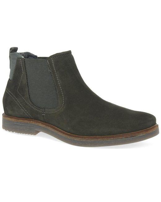 lyst bugatti heath mens suede chelsea boots in green for men. Black Bedroom Furniture Sets. Home Design Ideas
