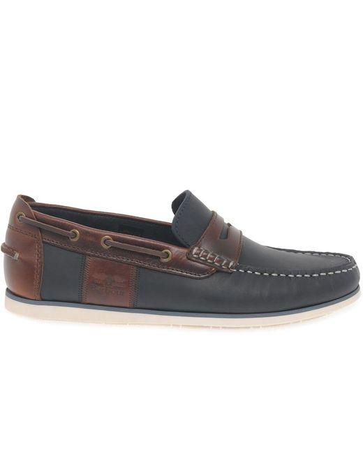 Barbour Blue Boat Shoes