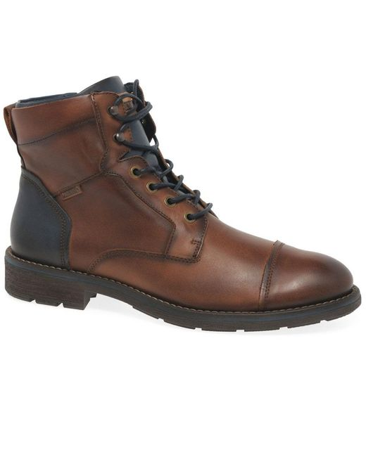 Pikolinos Brown Yorkshire Smooth Mens Boots for men