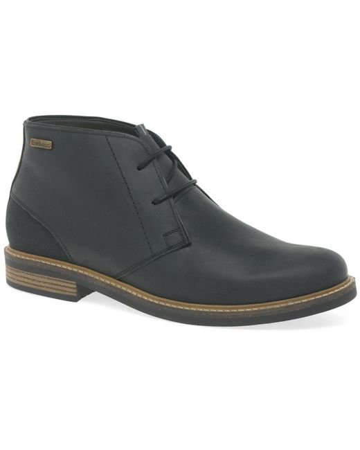 Barbour - Black Readhead Mens Leather Chukka Boots for Men - Lyst