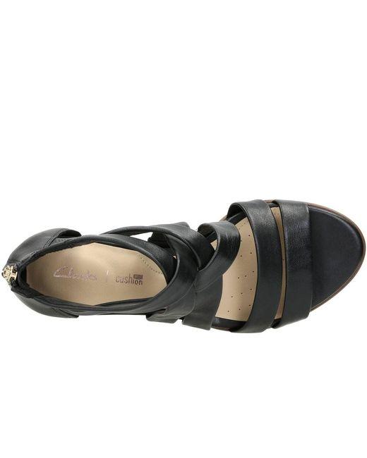 5cc25a88bee ... Clarks - Black Mena Silk Womens Sandals - Lyst ...