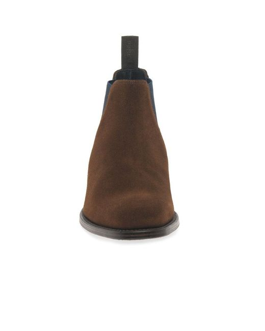 1b4e69b7443 Brown Caine Mens Suede Chelsea Boots