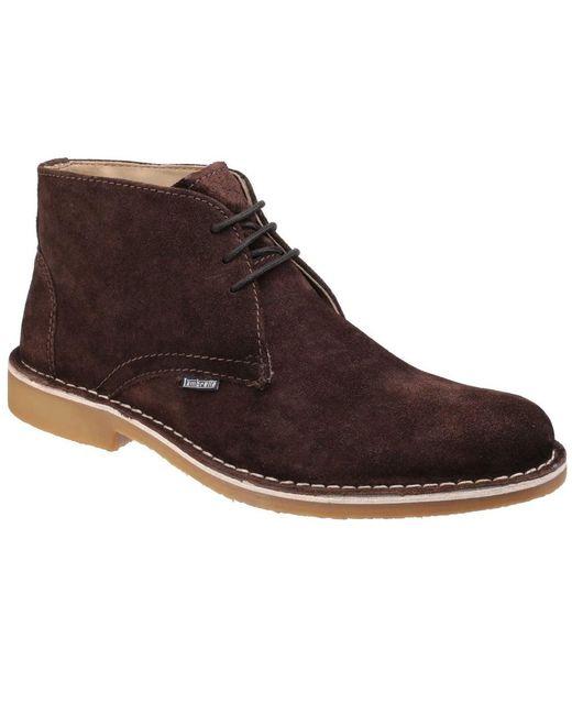 Lambretta   Brown Carnaby 2 Mens Suede Desert Boots for Men   Lyst