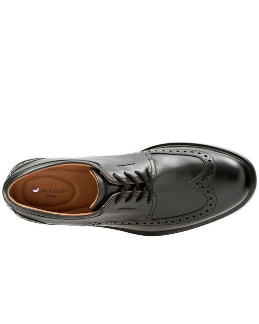 858a2ee1756d ... Clarks - Black Un Aldric Wing Mens Punched Leather Oxford Shoes for Men  - Lyst ...