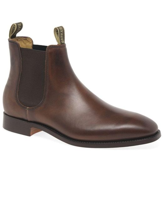 a5a1be062316f Barker Mansfield Mens Chelsea Boots in Brown for Men - Lyst