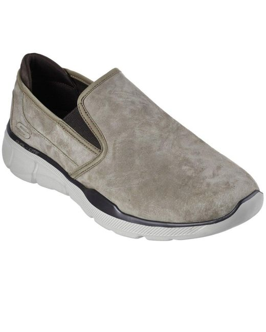 Skechers Equalizer 3.0-substic Nubuck Slip On Shoe Men's Slip-ons (shoes) In Brown for men