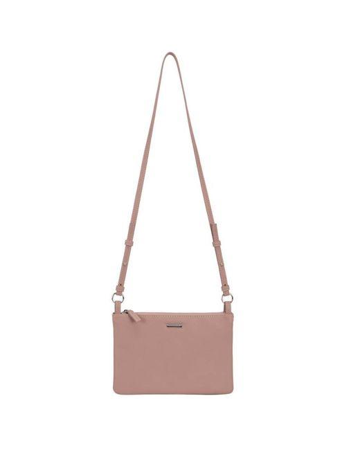 David Jones Pink Coral Womens Messenger Handbag