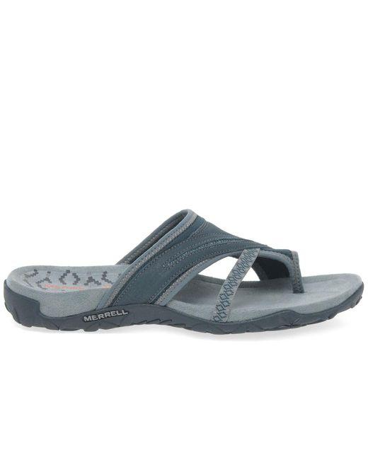 5393df49a2da0 ... Merrell - Gray Terran Post Ii Womens Toe-post Sandals - Lyst ...