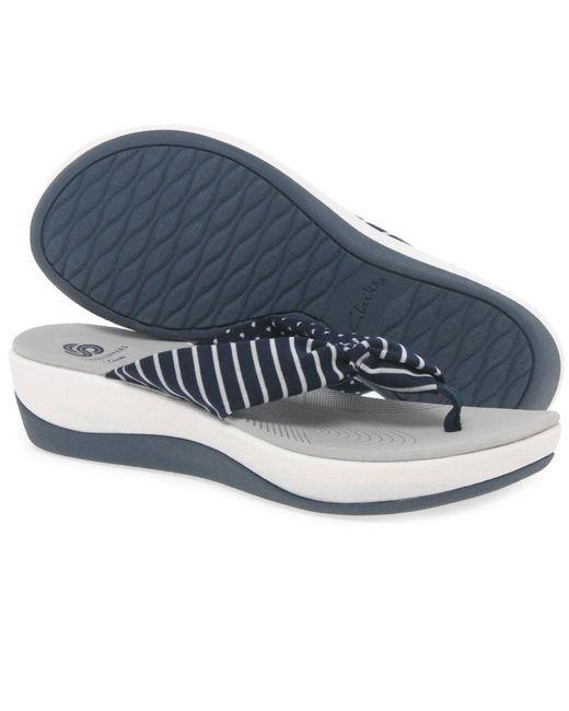 40da88bacacb Lyst - Clarks Arla Glison Womens Toe Post Sandals in Blue - Save 11%