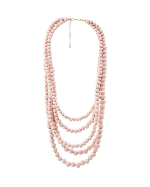Charlotte Russe - Multicolor Multi-beaded Layering Necklace - Lyst