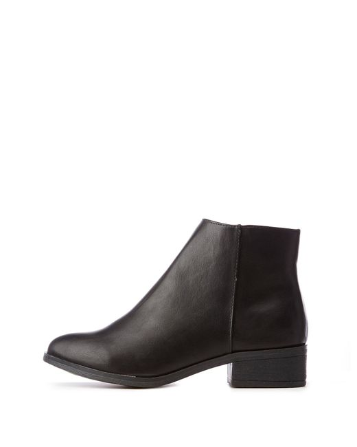 a321fb4a75fd Lyst - Charlotte Russe Bamboo Zip Ankle Booties in Black