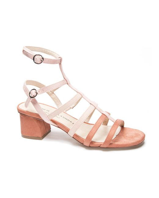 Chinese Laundry Pink Monroe Strappy Cage Sandal