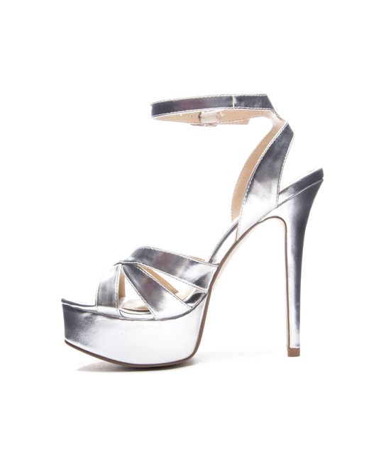 8f441bbc479 Lyst - Chinese Laundry Alyssa Metallic Platform Sandal in Metallic