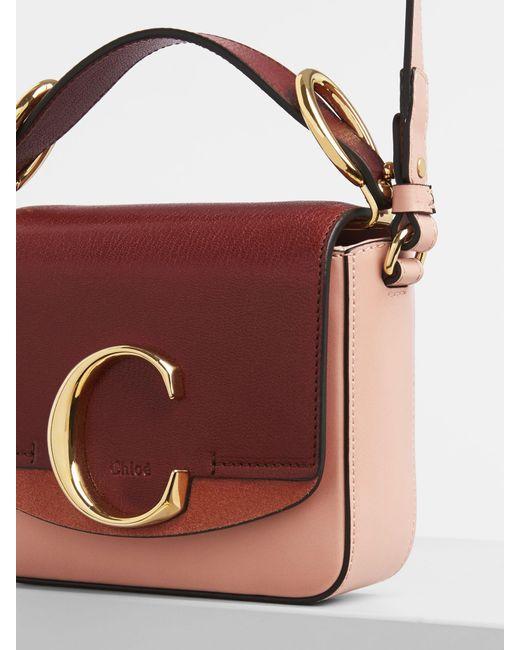 Mini sac Chloé C Chloé en coloris Multicolor