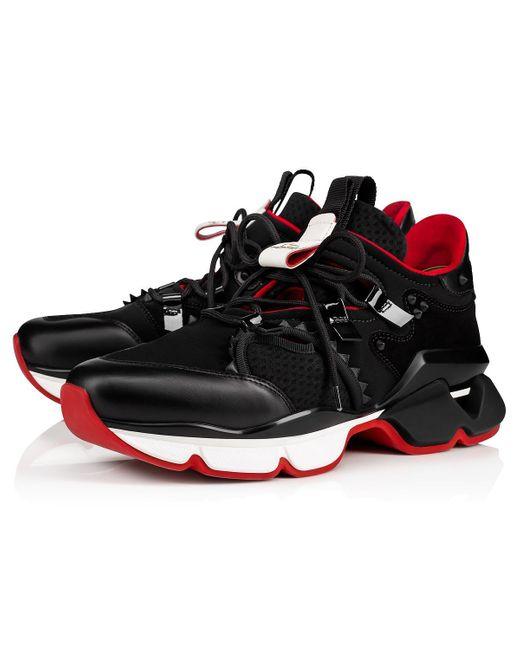 Baskets en néoprène Red Runner Christian Louboutin pour homme en coloris Black