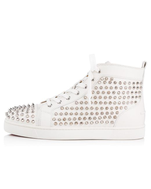 bc6578e13568 ... Lyst Christian Louboutin - Multicolor Louis Spikes Men s Flat for Men  ...