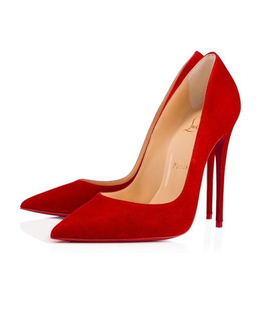 Christian Louboutin | Red Pigalle Follies Veau Velours | Lyst