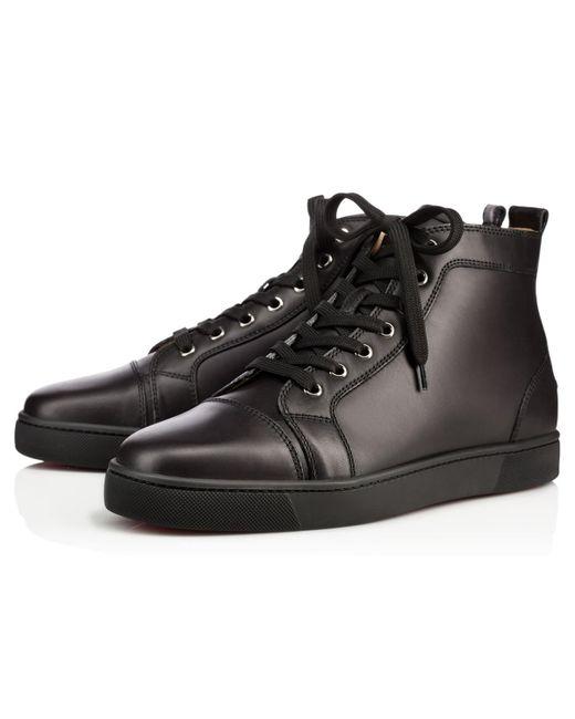 ad18f27266b9 Christian Louboutin - Black Louis Men s Flat for Men - Lyst ...