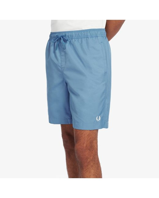 Fred Perry Men's Blue Textured Swim Shorts
