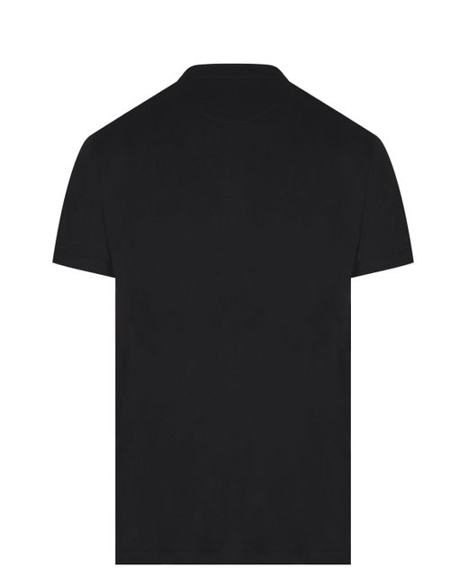 Valentino Black Cotton T-shirt With Vltn Print for men