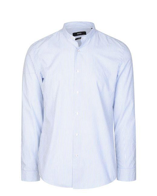 BOSS Blue Hugo Pinstripe Poplin Shirt for men