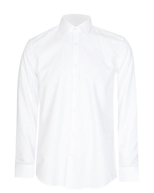 BOSS Hugo Jenno Slim Fit Cotton Shirt White for men