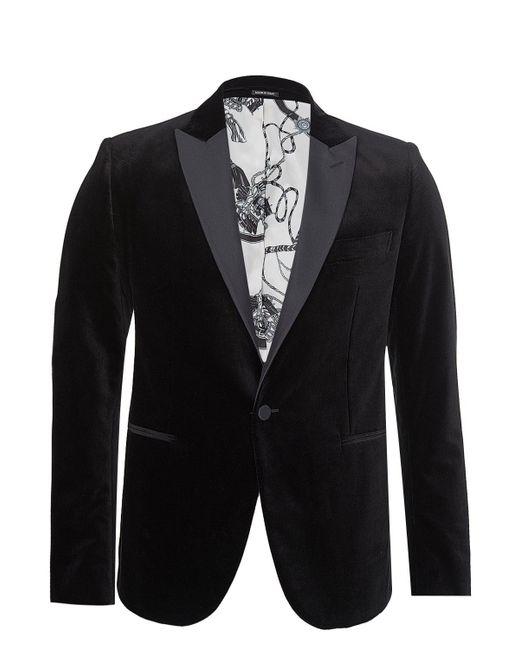 Alexander Mcqueen Velvet Blazer In Black For Men Lyst