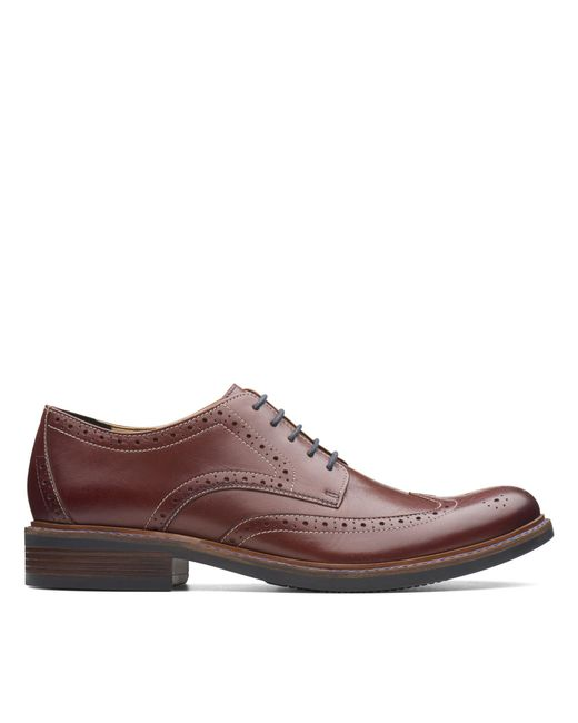 Clarks Brown Maxton Wing for men