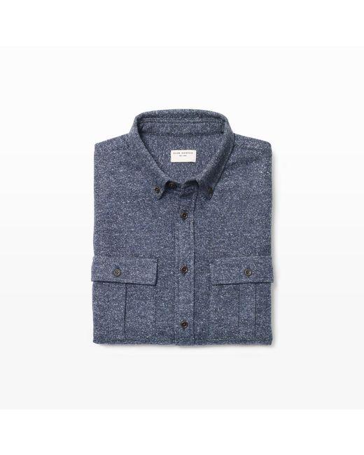 Club Monaco | Blue Slim Pocket Donegal Shirt for Men | Lyst