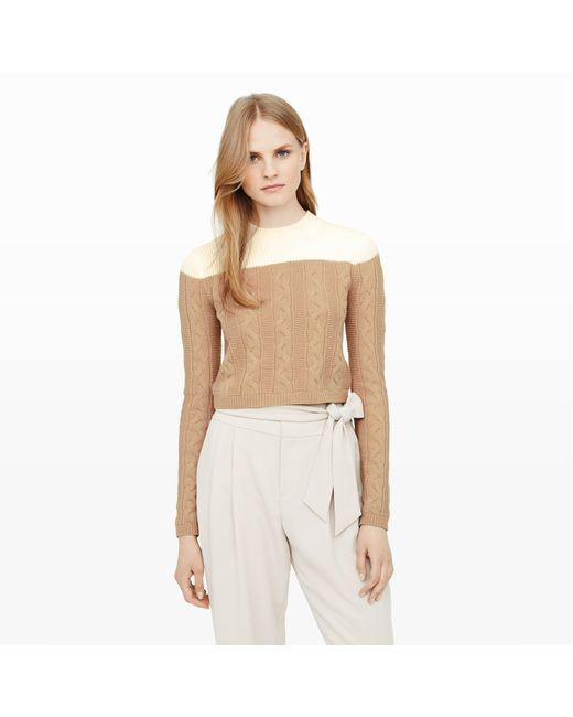 Club Monaco   Natural Alexios Cable-knit Sweater   Lyst