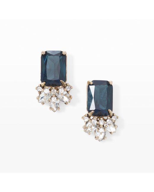 Club Monaco | Blue Evening Crystal Stone Earrings | Lyst