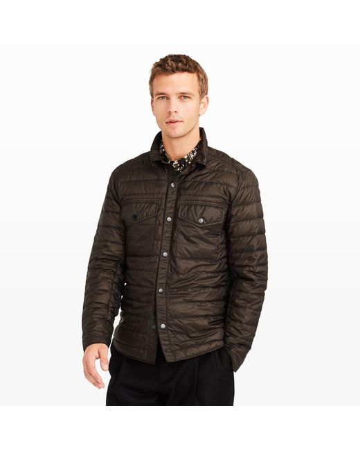 Club Monaco | Black Quilted Cpo Shirt for Men | Lyst