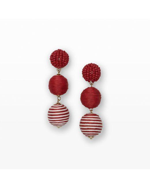 Club Monaco | Red Bauble Stripe Earring | Lyst