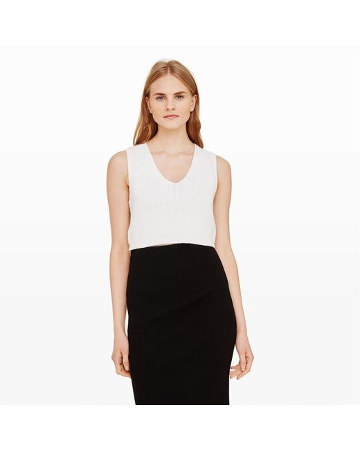Club Monaco | White Leta Sweater Tank | Lyst
