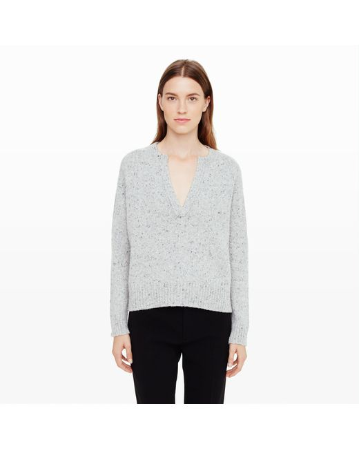 Club Monaco | Gray Lycus Cashmere Henley | Lyst