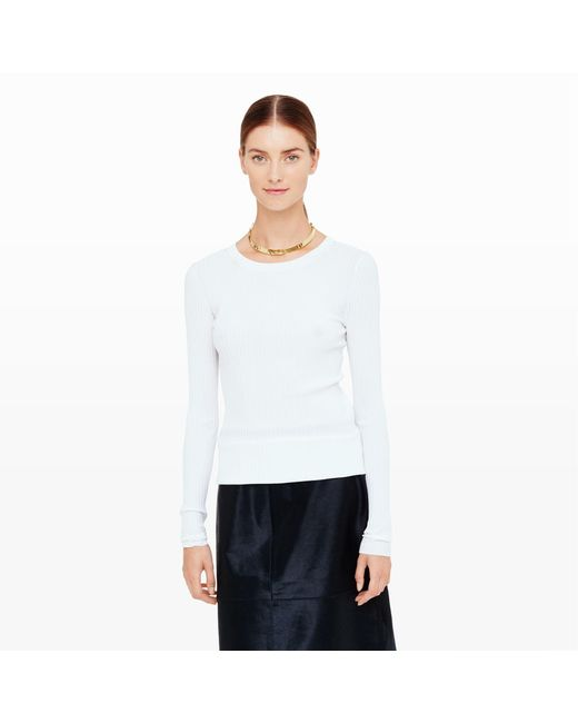 Club Monaco | White Tulsie Ribbed Sweater | Lyst