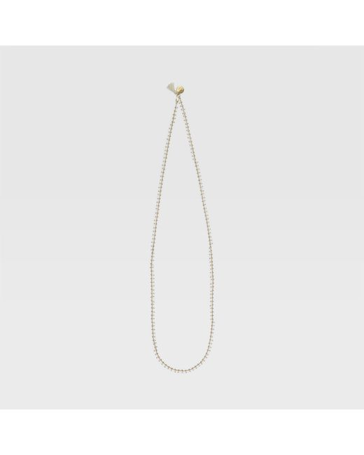 Club Monaco - White Long Bibi Necklace - Lyst