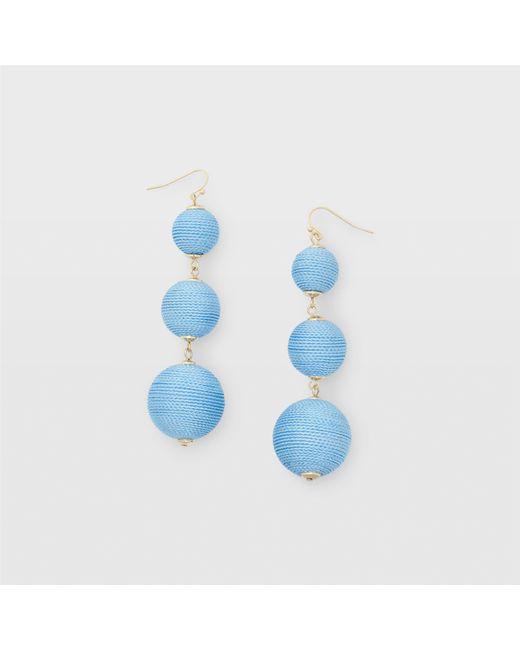 Club Monaco | Blue Bauble Solid Earring | Lyst