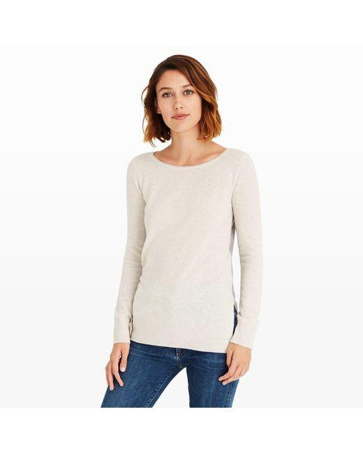 Club Monaco   Gray Nicolette Color-block Sweater   Lyst